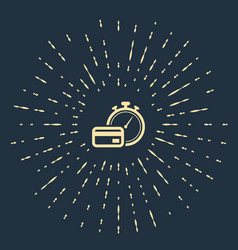 Beige fast payments icon on dark blue background vector