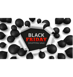 black friday sale banner discount background vector image