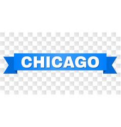 Blue tape with chicago title vector