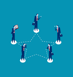 business and network concept business vector image