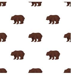 canadian brown bear canada single icon in cartoon vector image