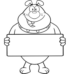 Cartoon dog with sign vector