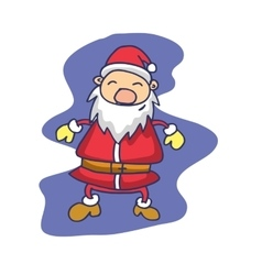 Collection Santa Claus style cartoon vector image
