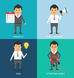 Commercial Stages of Business Character vector