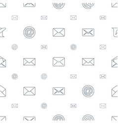Correspondence icons pattern seamless white vector