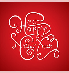 creative happy new year design vector image