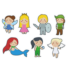 cute children fairytale cartoon clipart vector image