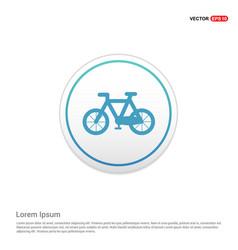 cycle icon - white circle button vector image