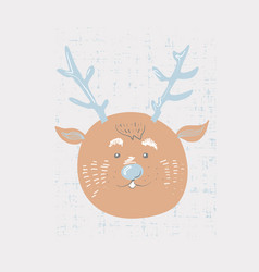 deer cartoon cute animal vector image