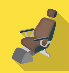 Dentist chair medicine single icon in flat style vector
