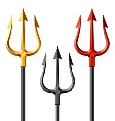devil tridents vector image