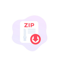 Download zip file archive icon vector