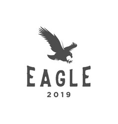 eagle vintage logo design inspiration vector image