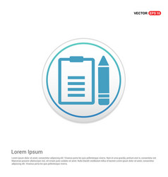 edit document icon - white circle button vector image