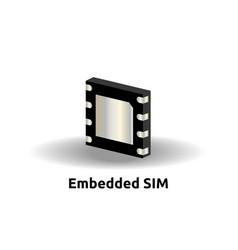 Esim embedded sim card icon symbol concept new vector