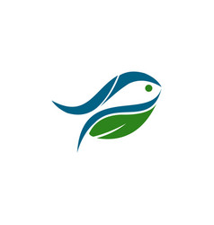 farm and fish vector image