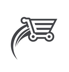 Fast shopping cart icon vector