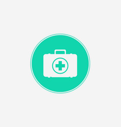 first aid kit icon sign symbol vector image