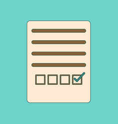 Flat icon thin lines questionnaire vector