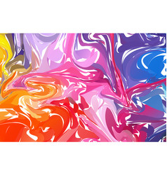 Fluid colorful shapes background rainbow trendy vector