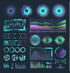 Futuristic interface space motion graphic vector