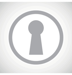 Grey keyhole sign icon vector
