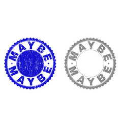 Grunge maybe scratched stamp seals vector
