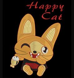 Happy cat vector