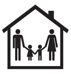 Happy family in a house vector