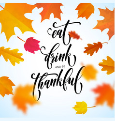 happy thanksgiving holiday autumn fall vector image