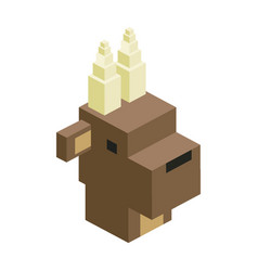 head bull modular animal plastic lego toy blocks vector image