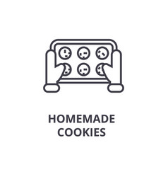 homemade cookies line icon outline sign linear vector image
