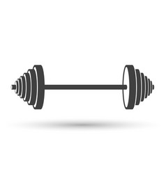 icon of a sports dumbbell on white vector image