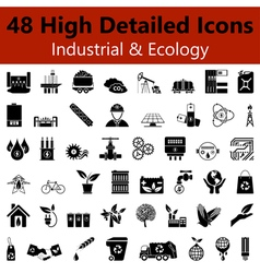 Industrial and Ecology Smooth Icons vector image