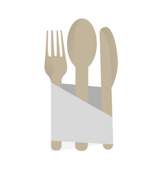 isolated cutlery set vector image