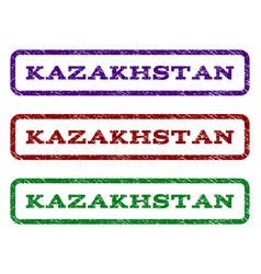 kazakhstan watermark stamp vector image