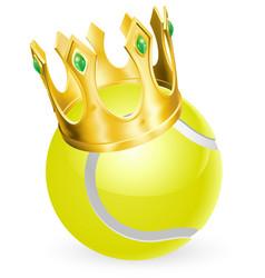 King of tennis vector