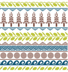 Lilting seamless pattern with olives vector