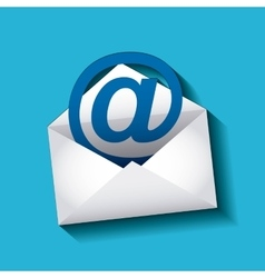 mail marketing design vector image