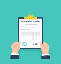 man hold declaration checklist holding the vector image