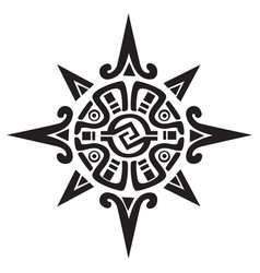 Mayan or incan symbol of a sun or star vector
