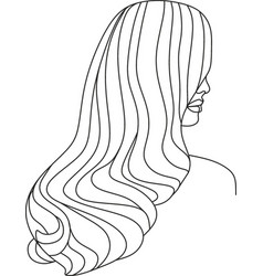 Minimal face drawing in lines vector