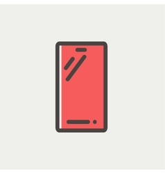 Mobile phone thin line icon vector