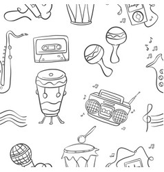 Music doodle style hand draw art vector