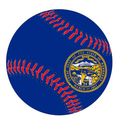 nebraska flag baseball vector image