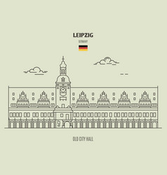 Old city hall in leipzig vector