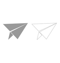 Paper airplane set icon vector