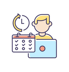 Part time job rgb color icon vector