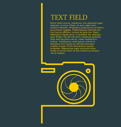 photography brochure template vector image