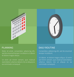 planning daily routine template poster vector image